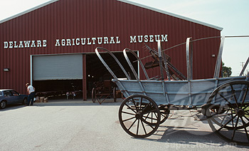 The Delaware Agricultural Museum features several historic buildings and thousands of artifacts pertaining to agriculture and farming.