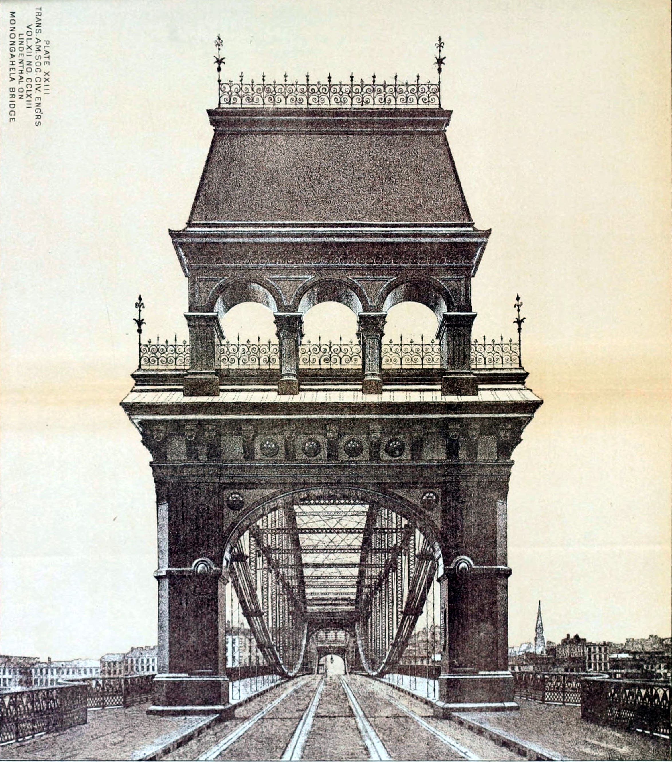 The original bridge portals that greeted those crossing it which were replaced in 1915.