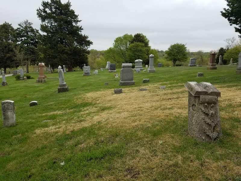 View of lot 4 which is mid section of the cemetery.
