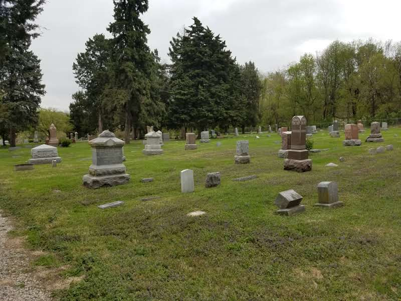 View of lot 2 where the Sautter family graves are located.