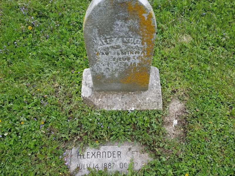 Example of a newer marker commissioned to continually honor the deceased as the original marker fades away with time.