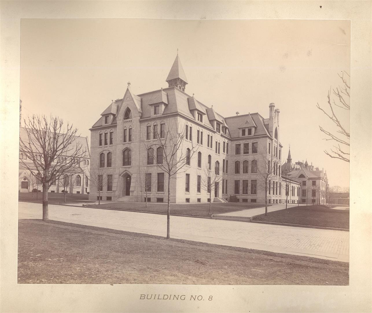 1893 photo of Building #8, later known as Lafayette Hall.