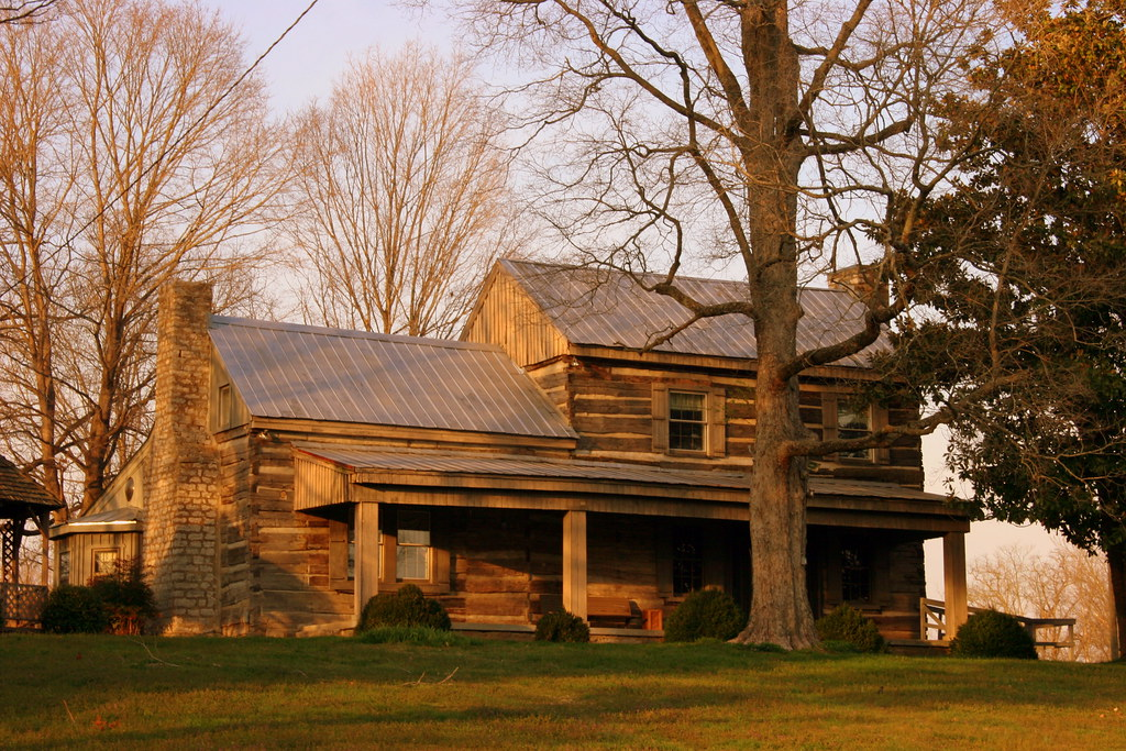 Exterior view of the Buchanan Log House