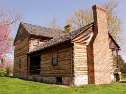 The log house has been modernized at several times, but much of the original structure remains.