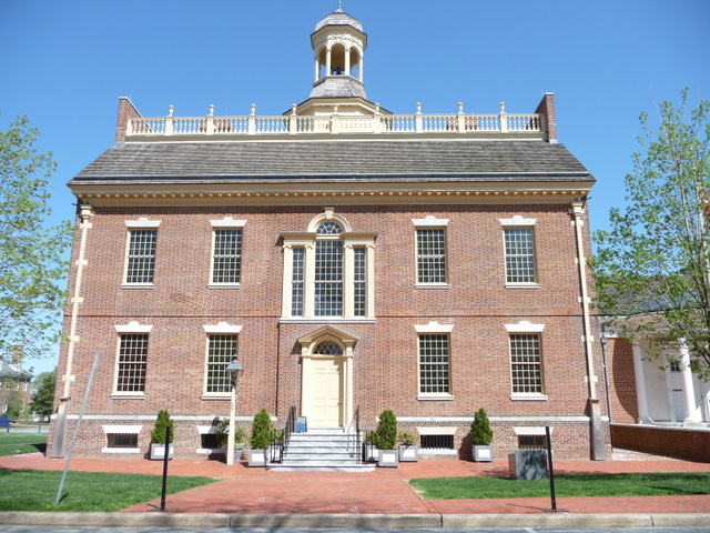 The Old State House was the first permanent home to the state government of Delaware. The building was added to the National Register of Historic Places in 1971.