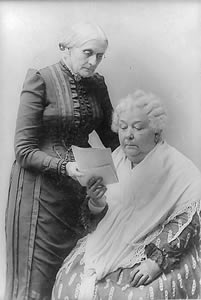 Susan B. Anthony (1820-1906) (left) and Elizabeth Cady Stanton (1815-1902) (right)