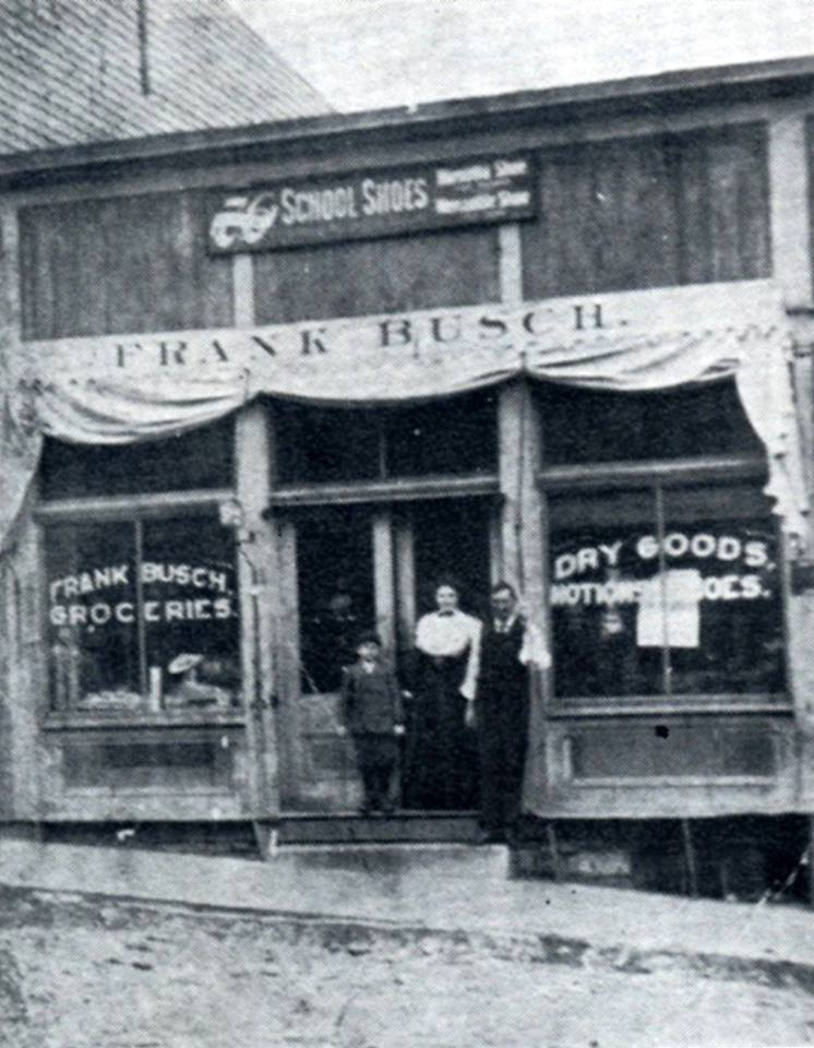 Frank Busch Groceries and Dry Goods (photo credit: Kenneth R. Klamm)