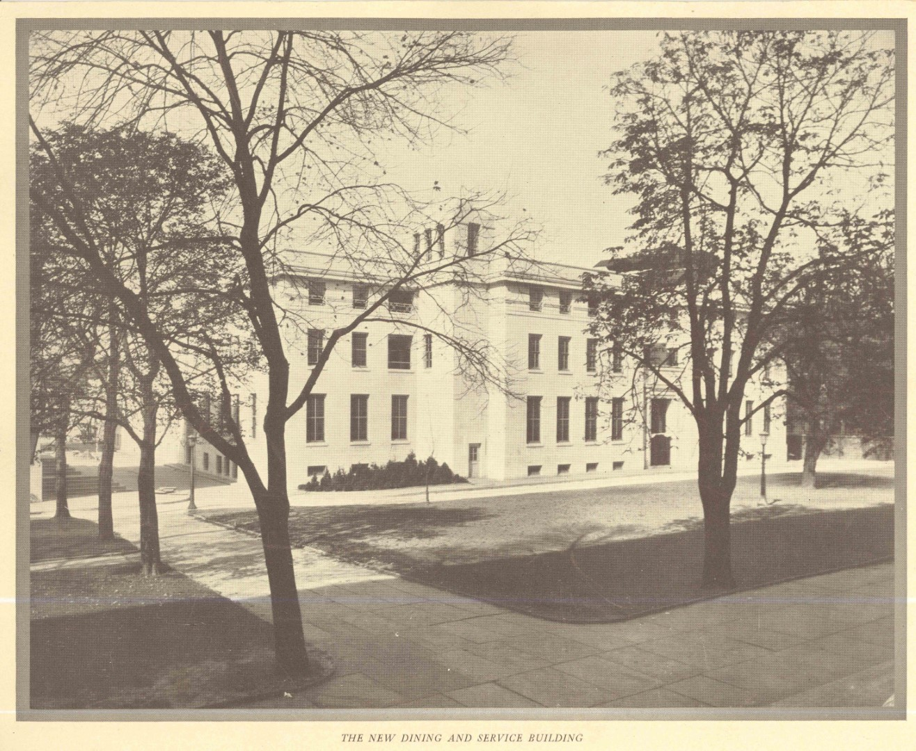 """The New Dining and Service Building"" (now Banker Hall), ca. 1927"