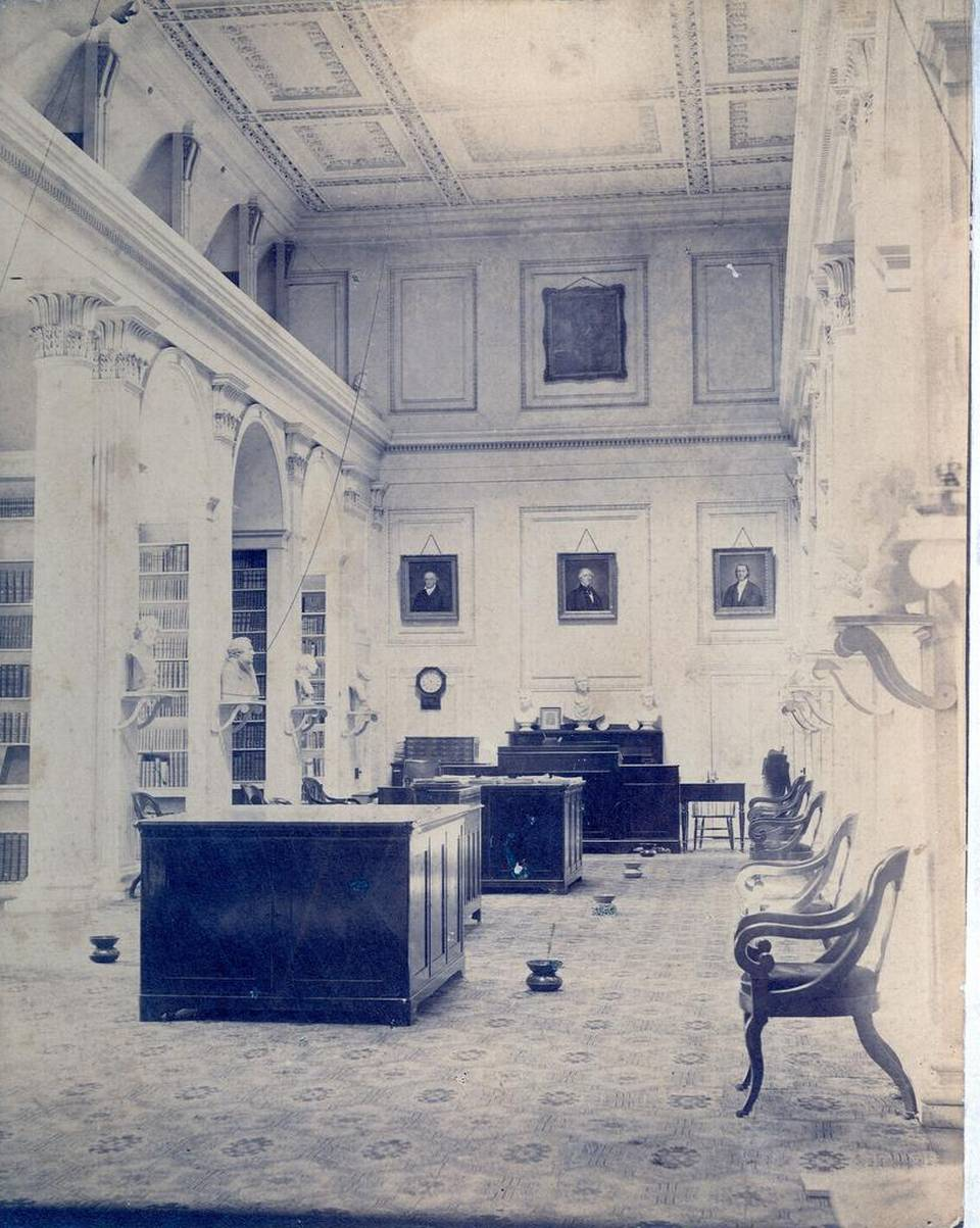 The library has served researchers from around the world since its establishment in 1840. This photo shows the South Caroliniana Library Reading Room in 1899.
