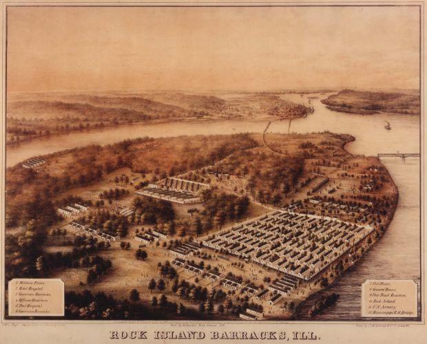 Rock Island Arsenal Confederate Prisoner of War Camp
