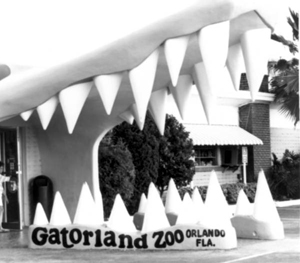 Original entrance of Gatorland,