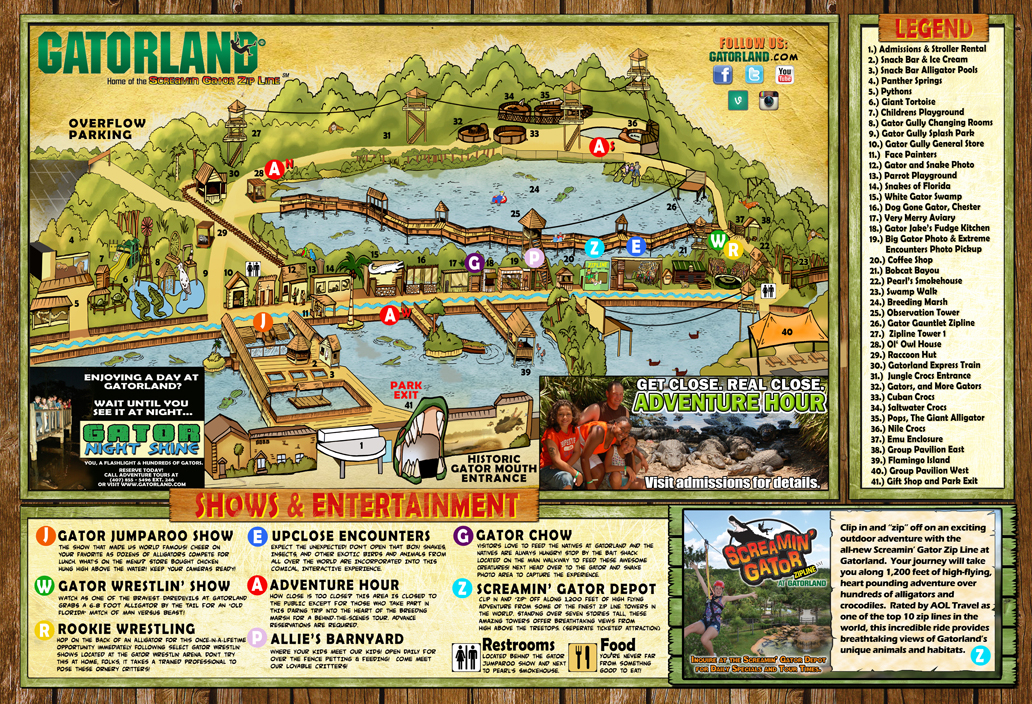 Current map of the park.