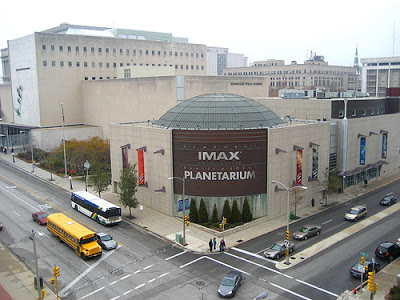 The museum features historical exhibits, a planetarium and IMAX theater, and lots of exhibits about science and nature.