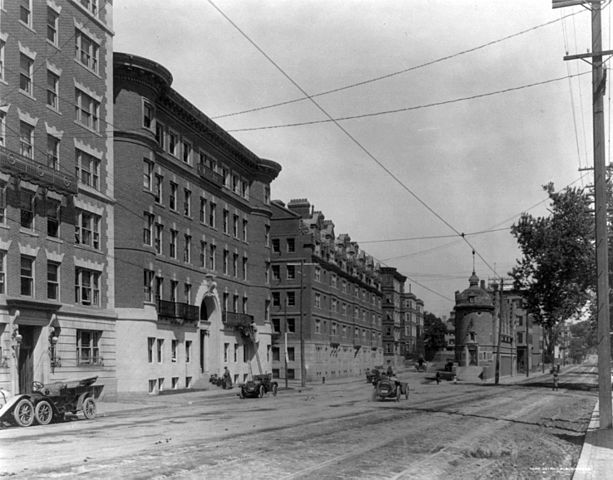 The Lampoon Building and Student Dormitories in 1911