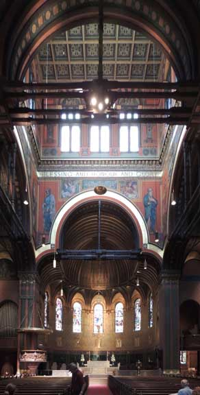 """Interior of Trinity Church, Courtesy of """"Buffalo Architecture and History,"""" http://buffaloah.com/a/virtual/us/boston/trinity/tc.html"""