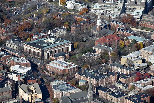 Aerial View of Harvard Yard