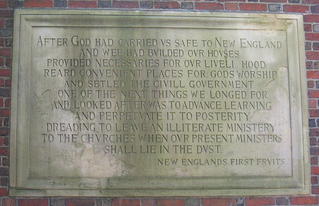"""""""First Fruits"""" plaque on the Johnston Gate"""