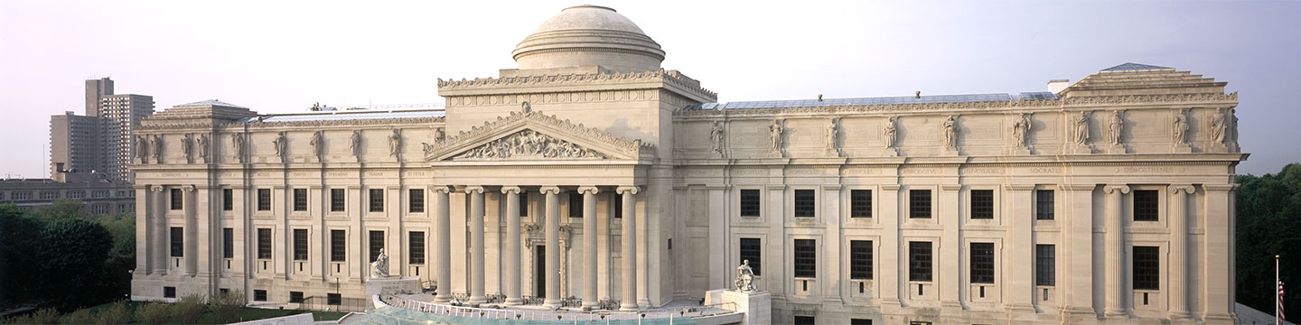 The Brooklyn Museum is part of a complex of nineteenth-century parks and gardens that also includes Prospect Park, the Brooklyn Botanic Garden, and the Prospect Park Zoo.