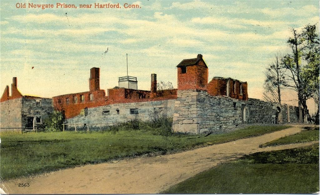 Postcard of the old prison from the early 20th century