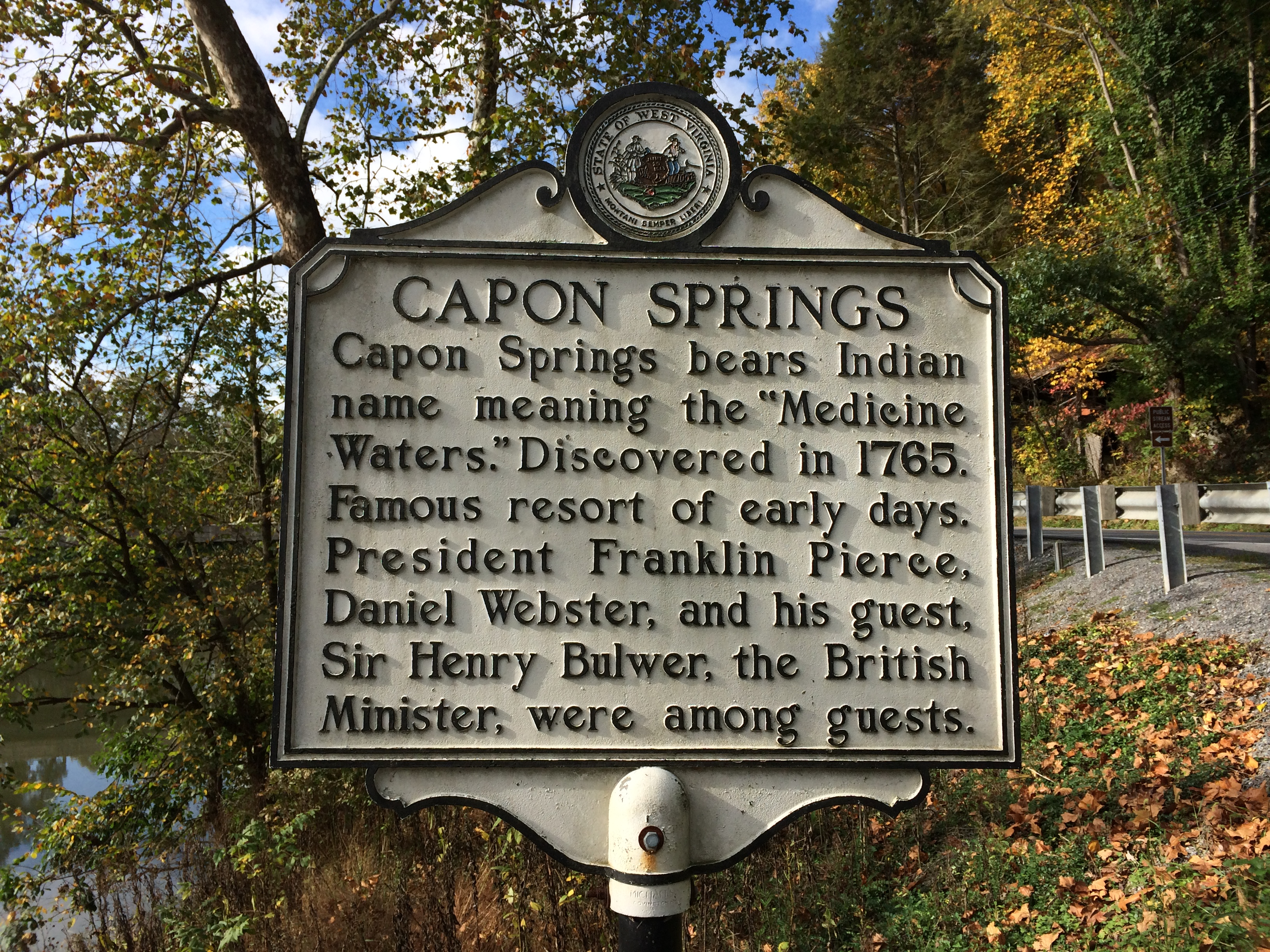 Capon Springs Historical Plaque