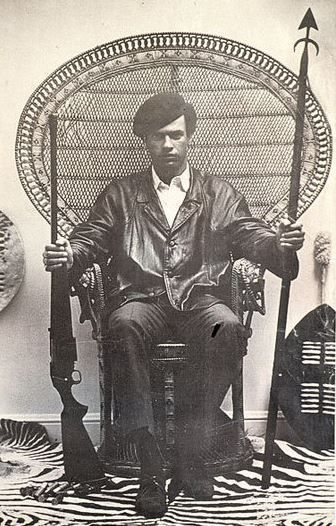 An iconic photograph of Huey Newton
