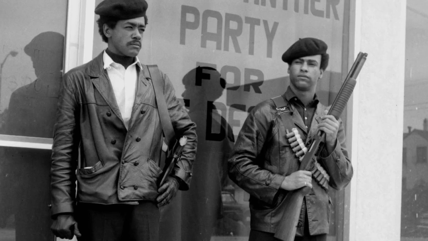 Bobby Seale (left) and Huey Newton, founders of the Black Panthers