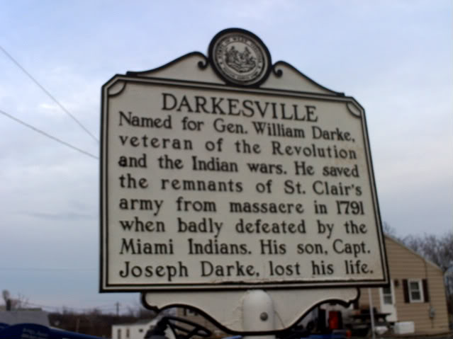 Darksville Historical Plaque