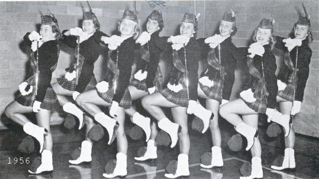 HEHS majorettes, 1956
