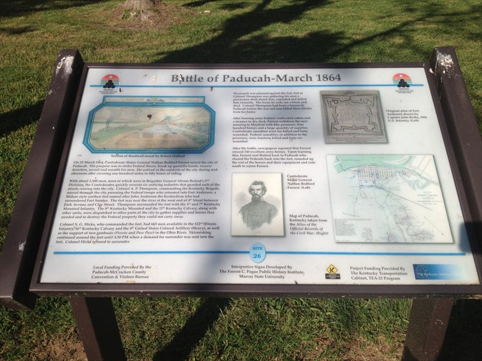 This marker and several others can be found along the river near the Paducah Expo Center
