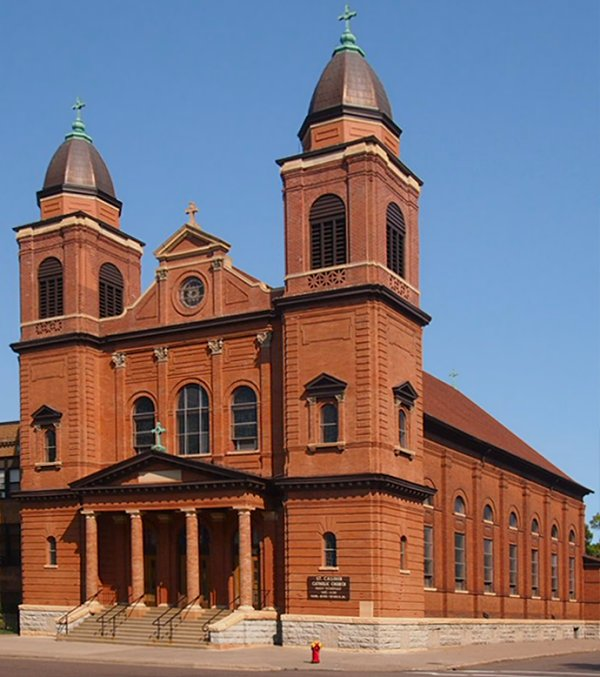 The Church of St. Casimir was built in 1904 to serve the growing Polish community.  Photo: McGhiever, via Wikimedia Commons