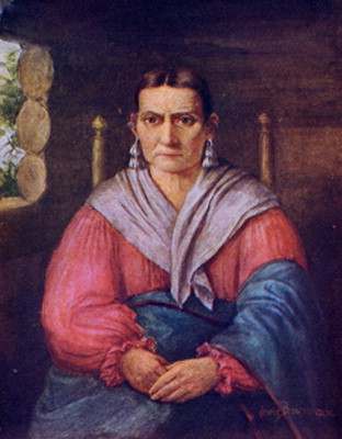 This portrait was drawn by Jennie Brownscombe to be used in the book The Lost Sister of Wyoming. A Biography written by Slocum's Grandniece, Martha Bennett Phelps