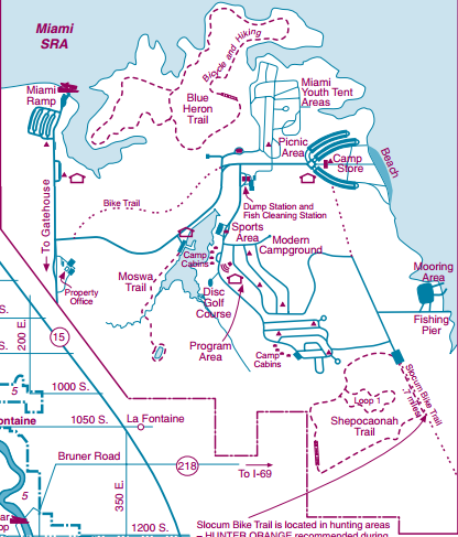 A closer look at the Miami State Recreational Area.