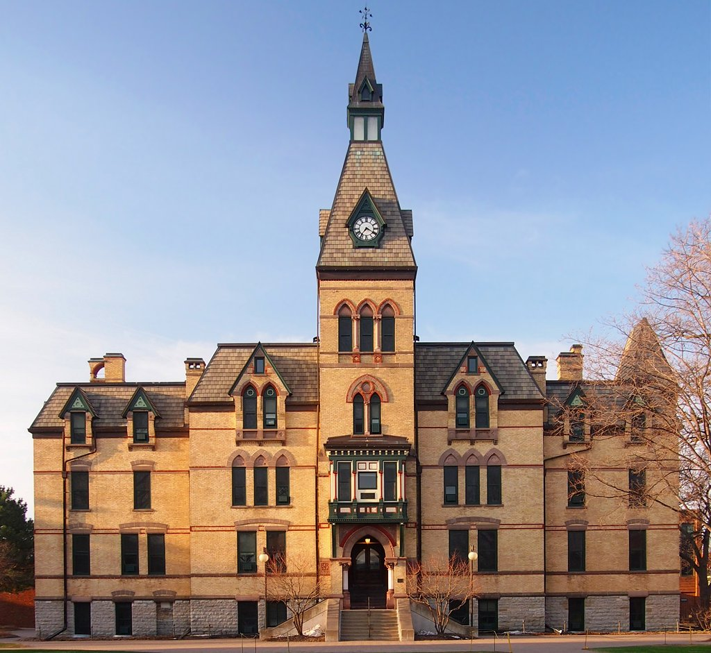 Old Main was built in 1884 and serves as the university's main administration building.