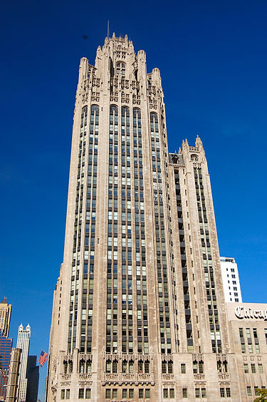 Tribune Tower was completed in 1925
