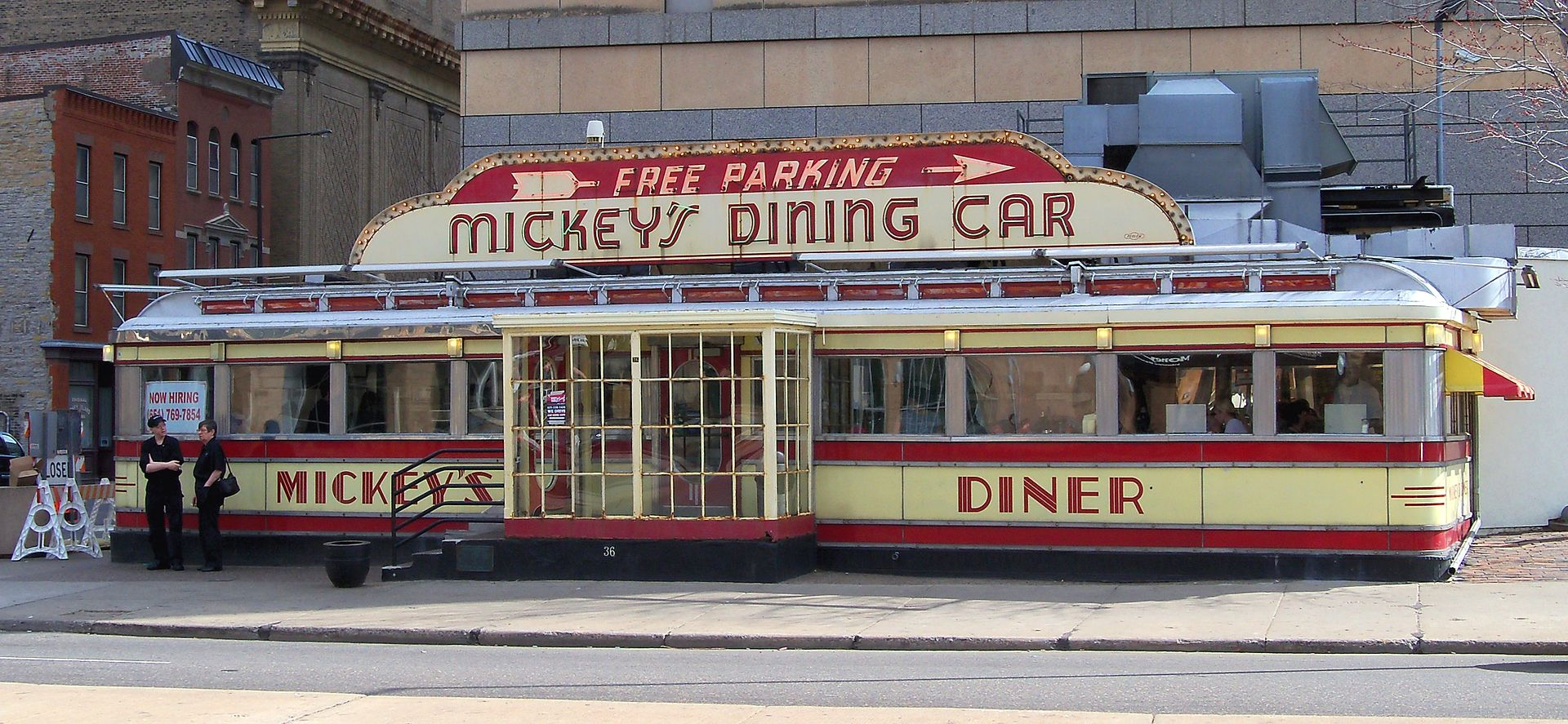 Mickey's Diner arrived in St. Paul in 1939 and has been open every day, 24 hours a day, ever since.