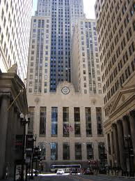 "Front view of ""The Chicago Board of Trade Building"", Chicago's tallest building from 1930 until 1965."