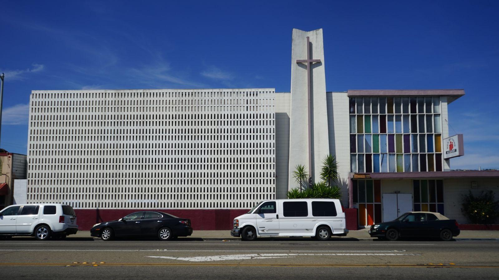 The Oakland Community School building as it appears in 2017