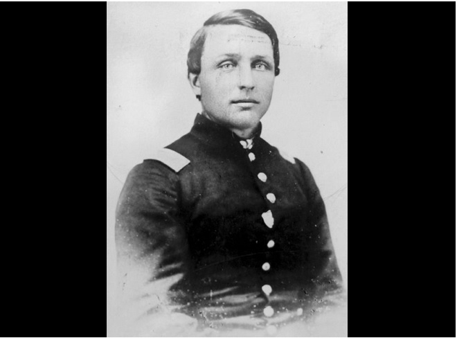 Capt. Samuel DeGolyer. Captured by the rebels and later died of wounds received during his time in their possession.