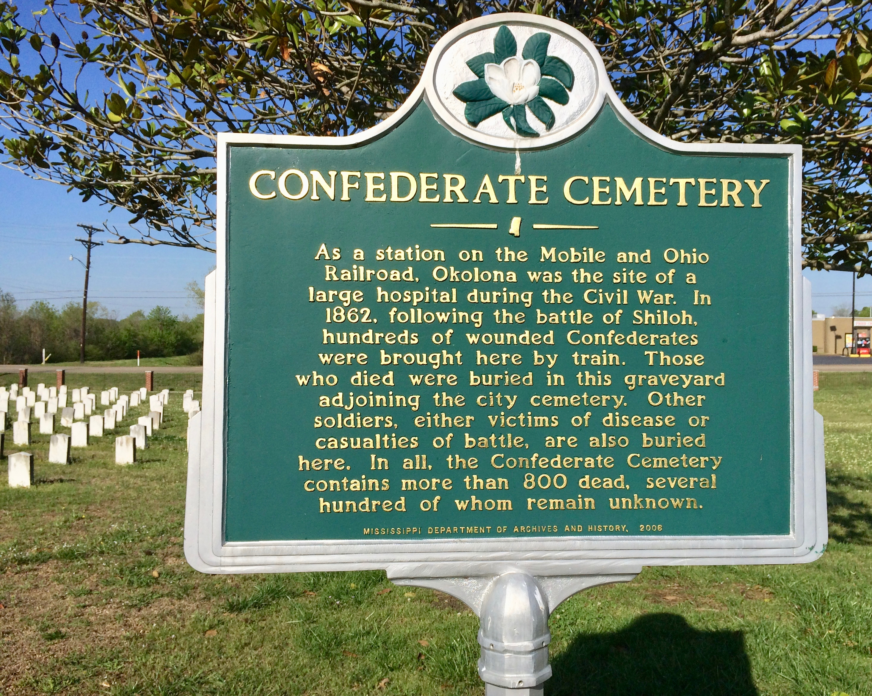 Official Landmark of the Confederate Cemetery.