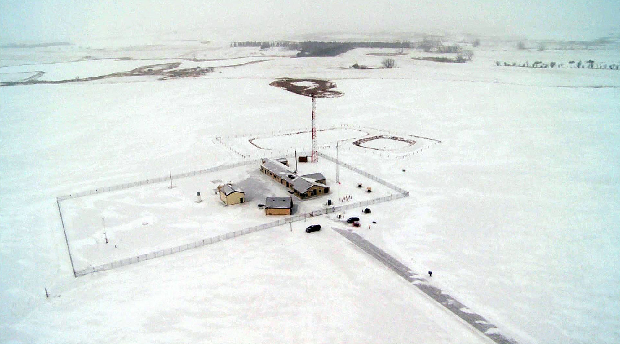 A missile launch-control facility near Minot Air Force Base.