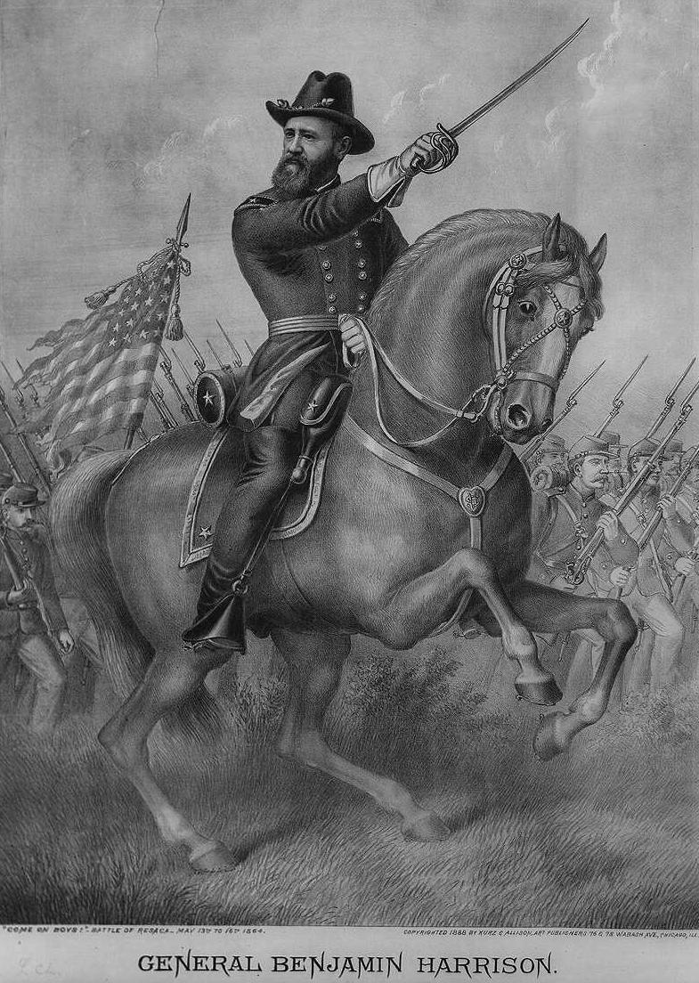 General Benjamin Harrison during the Battle of Resaca