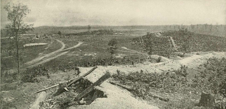Overlooking the Resaca battlefield, 1864