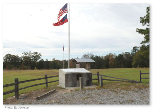 Monument dedicated to the soldiers who perished during the Battle of Griswoldville