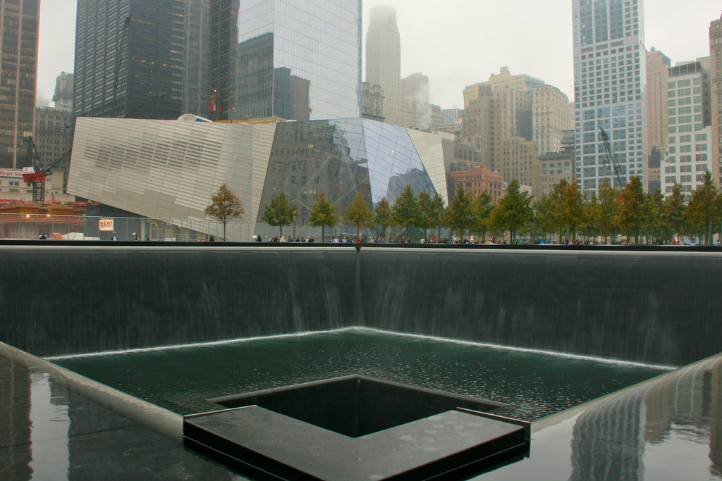 Waterfalls at the 9/11 Museum