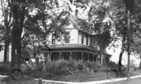 Truman residence at 909 Waldo Avenue, Independence, Missouri, taken in the spring of 1922. This was given to President Harry S. Truman, May 19, 1949, by Mrs. John Isaacks. ca. 1922
