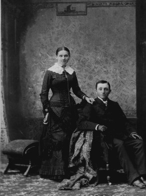 This photo is of Harry Truman's parents, John and Martha, who loved and supported Harry to the best of their ability.