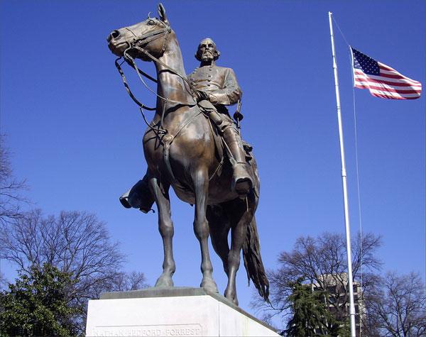 The statue in Health Sciences park in Memphis, TN