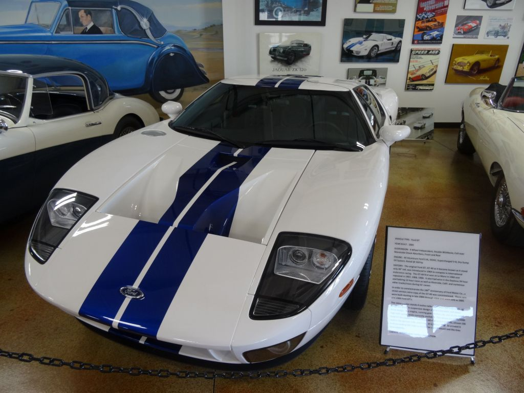 Ford GT on display in the new automobile exhibit