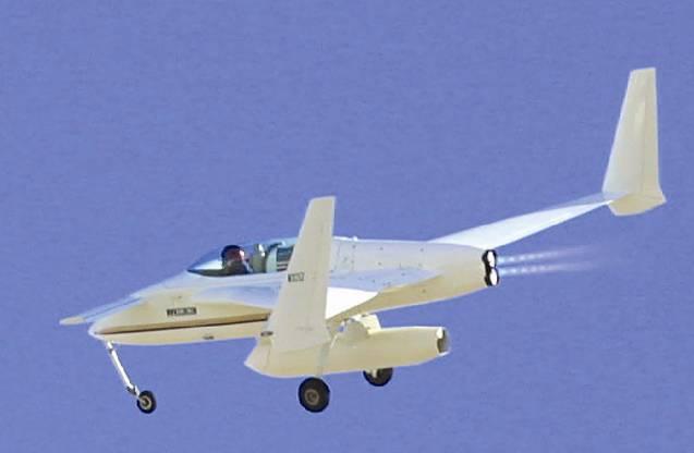 XCOR Ez Rocket zoom through the sky
