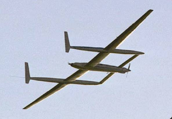 The Voyager, the first aircraft to fly around the world without refueling